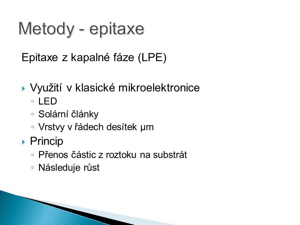 Metody - epitaxe Epitaxe z kapalné fáze (LPE)