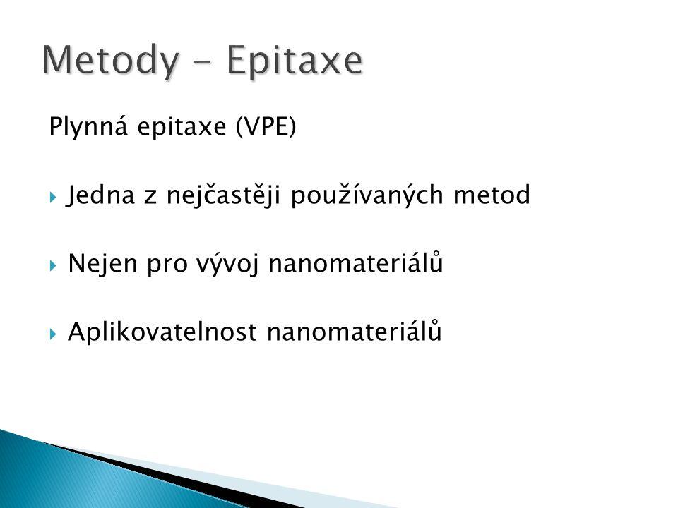Metody - Epitaxe Plynná epitaxe (VPE)