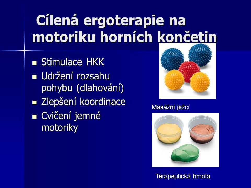 Cílená ergoterapie na motoriku horních končetin