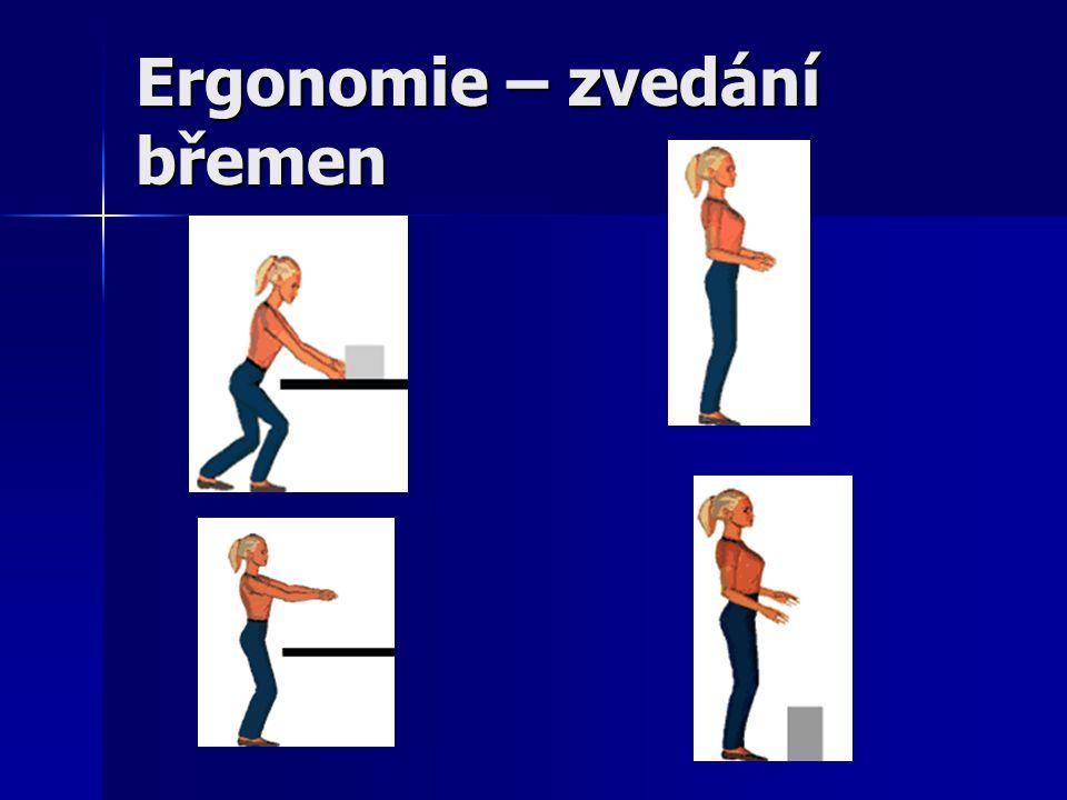 Ergonomie – zvedání břemen