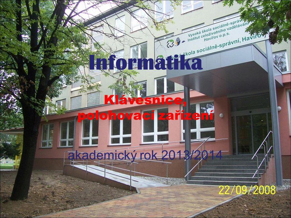 Informatika - Klávesnice, polohovací zařízení akademický rok 2013/2014