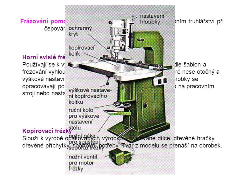 Frázování pomocí sání – používá se zejména ve stavebním truhlářství při čepování oken a dveří.
