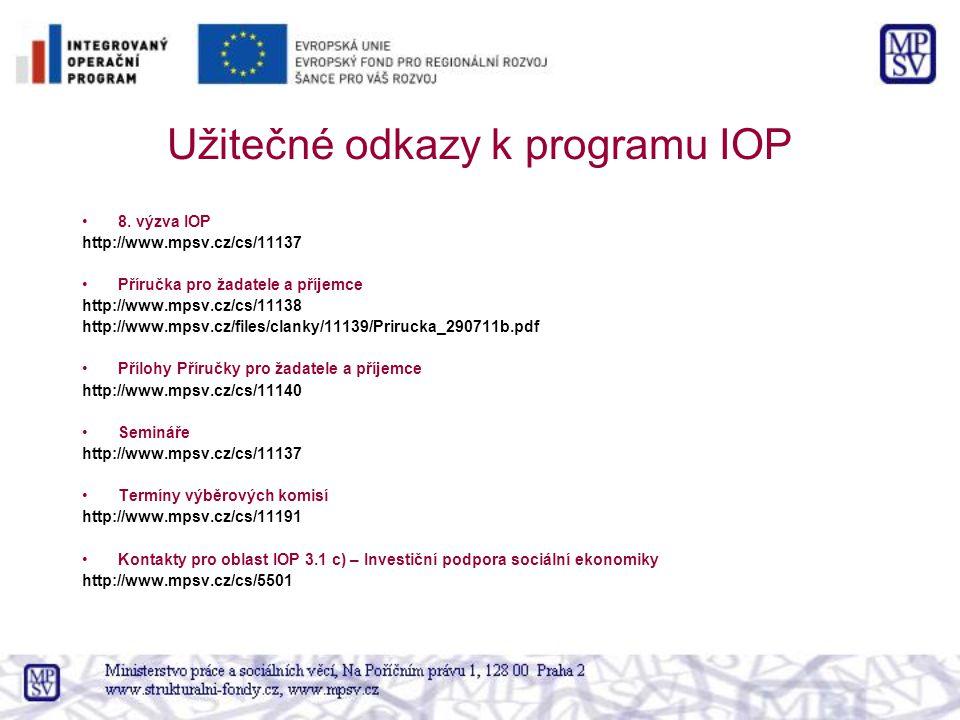 Užitečné odkazy k programu IOP