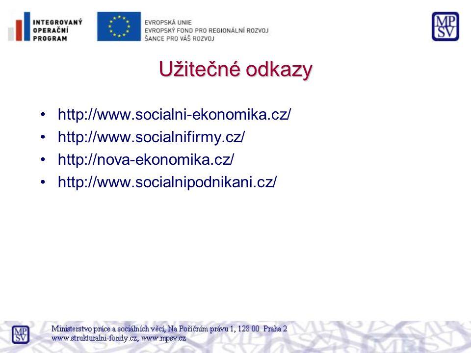 Užitečné odkazy http://www.socialni-ekonomika.cz/