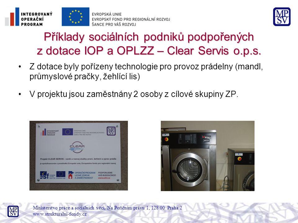 Příklady sociálních podniků podpořených z dotace IOP a OPLZZ – Clear Servis o.p.s.