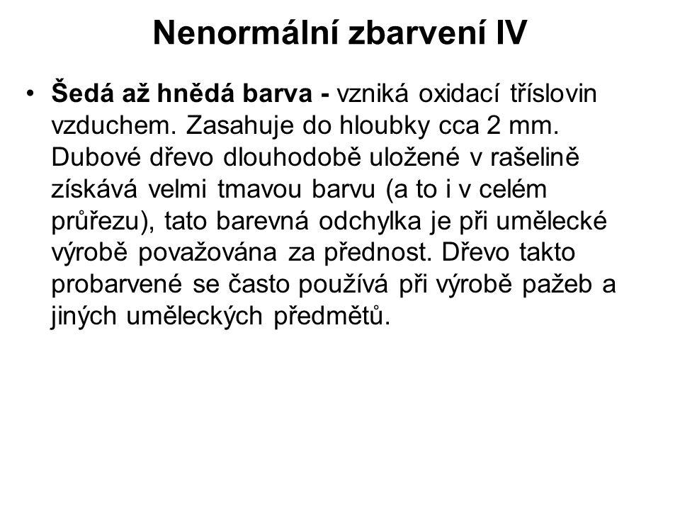 Nenormální zbarvení IV