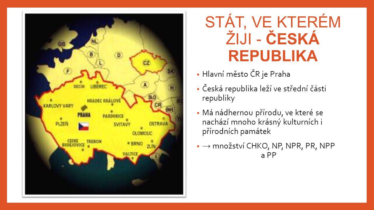 STÁT, VE KTERÉM ŽIJI - ČESKÁ REPUBLIKA
