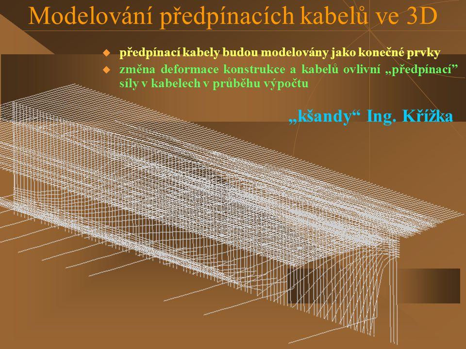 Modelování předpínacích kabelů ve 3D