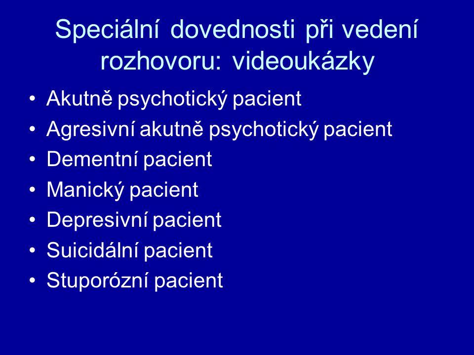 Speciální dovednosti při vedení rozhovoru: videoukázky