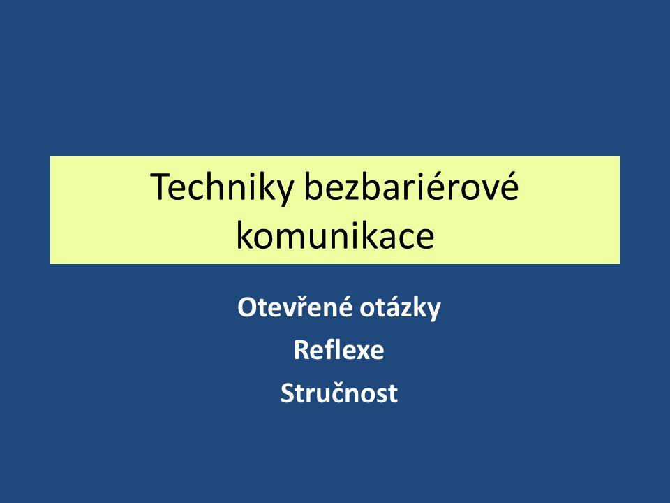 Techniky bezbariérové komunikace