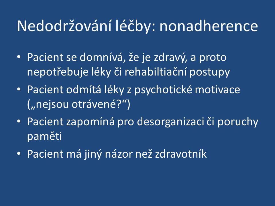 Nedodržování léčby: nonadherence