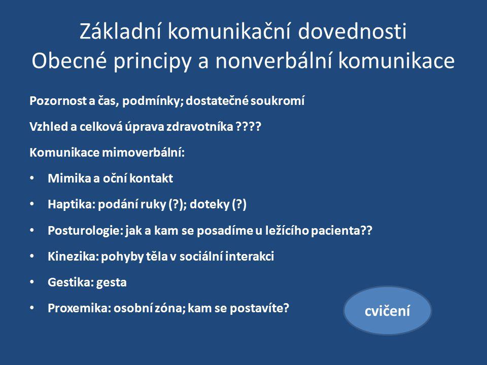 Základní komunikační dovednosti Obecné principy a nonverbální komunikace