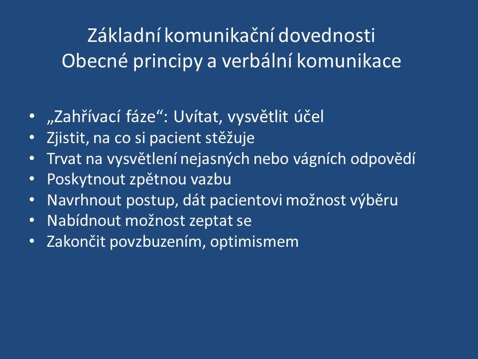 Základní komunikační dovednosti Obecné principy a verbální komunikace