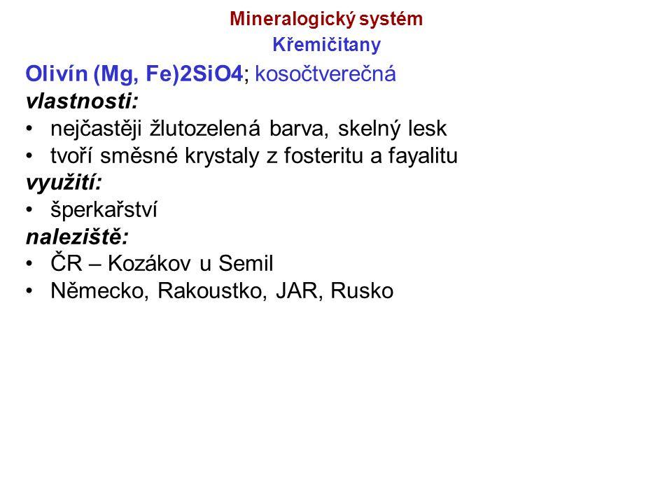 Mineralogický systém Křemičitany