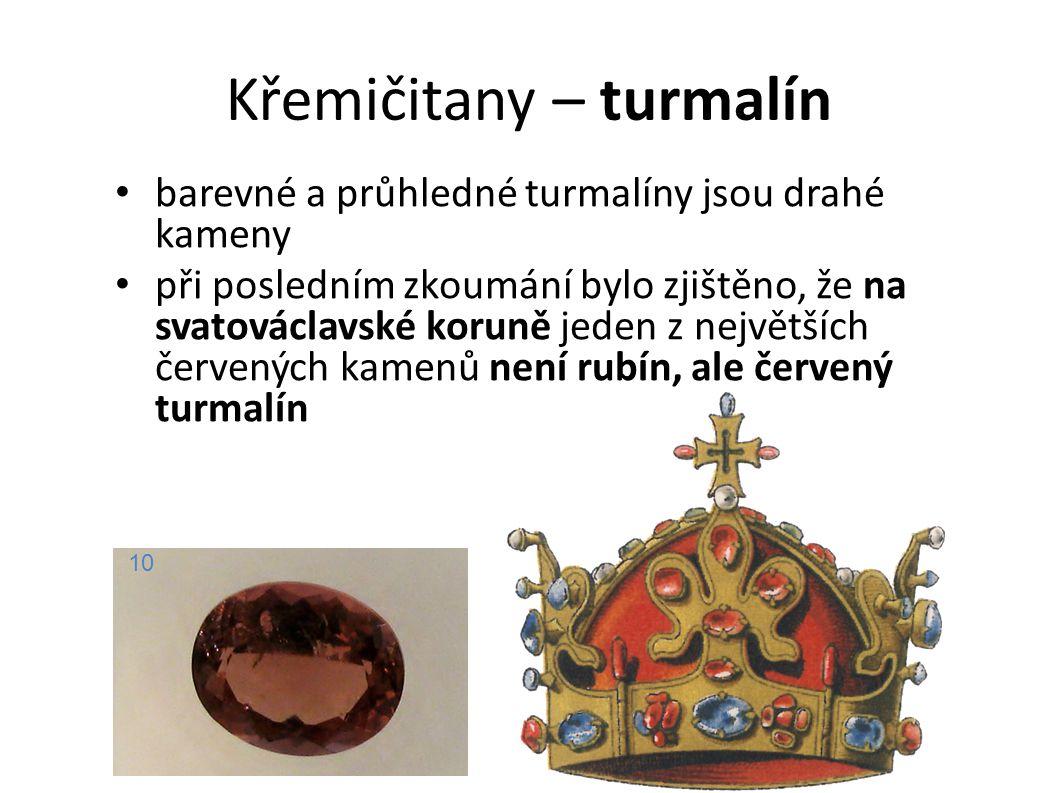 Křemičitany – turmalín