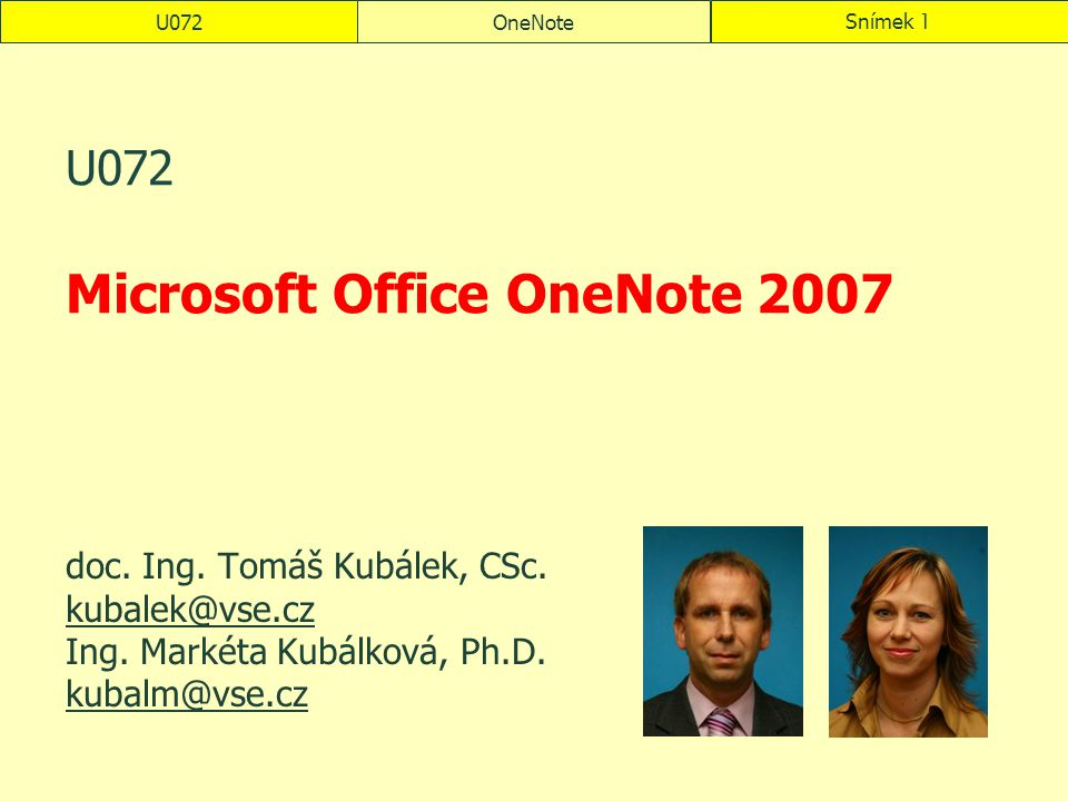 U072 Microsoft Office OneNote 2007