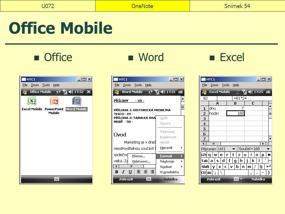 U072 OneNote Office Mobile Office Word Excel