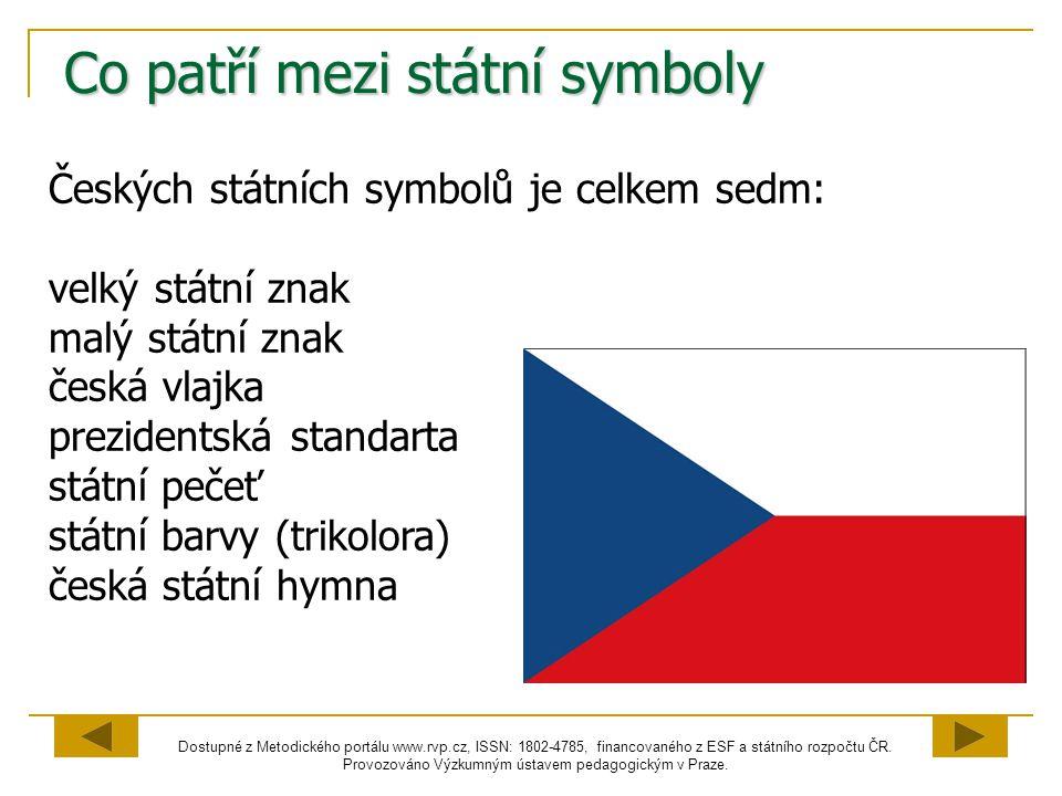 Co patří mezi státní symboly
