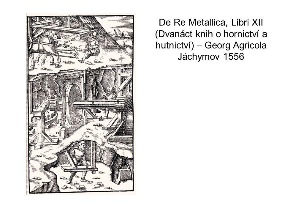 De Re Metallica, Libri XII (Dvanáct knih o hornictví a hutnictví) – Georg Agricola Jáchymov 1556