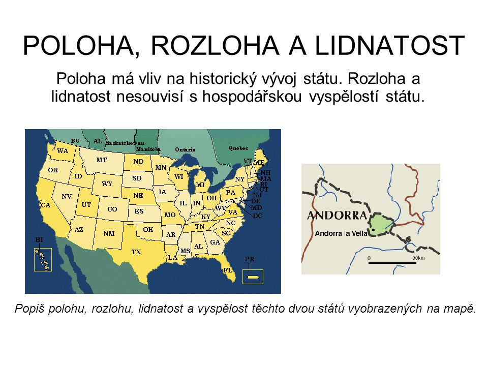 POLOHA, ROZLOHA A LIDNATOST