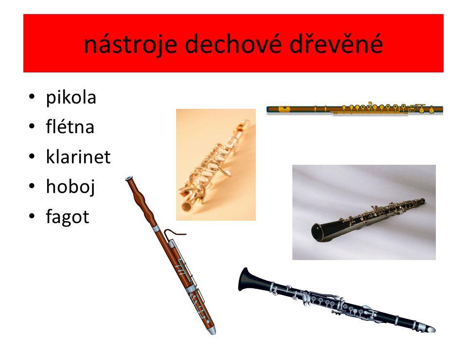 nástroje dechové dřevěné