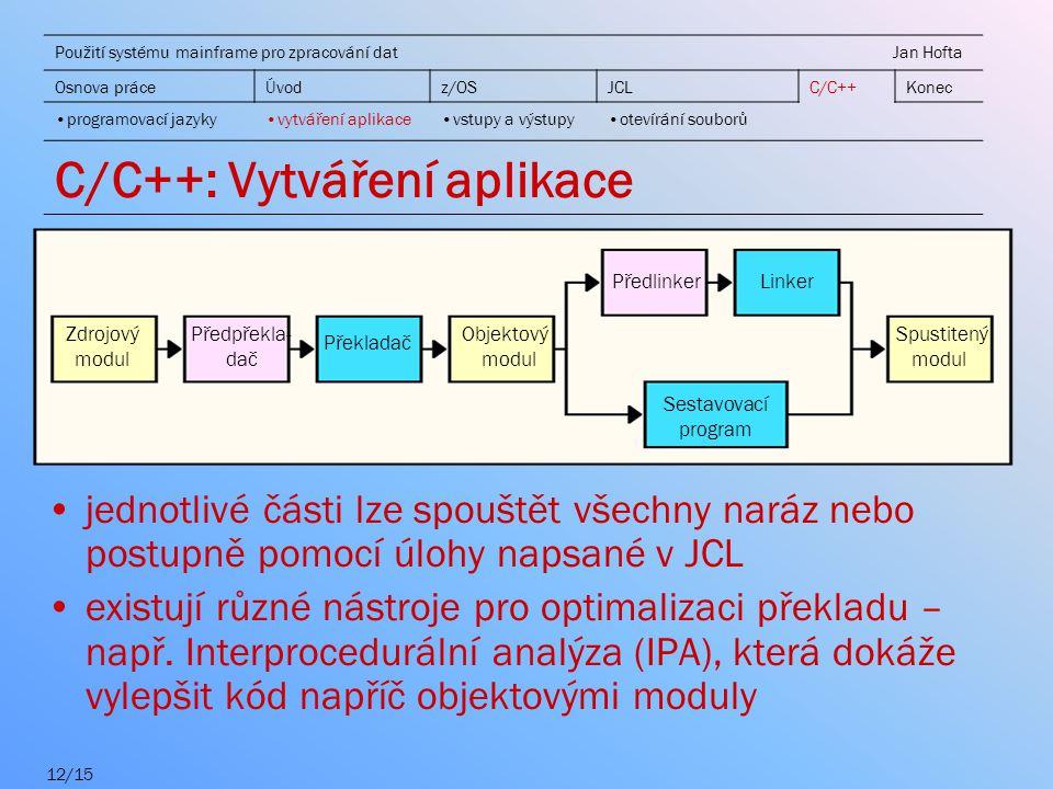 C/C++: Vytváření aplikace