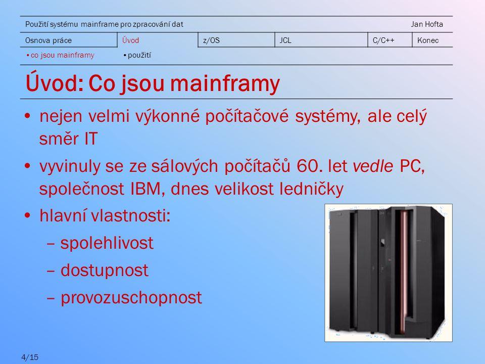 Úvod: Co jsou mainframy