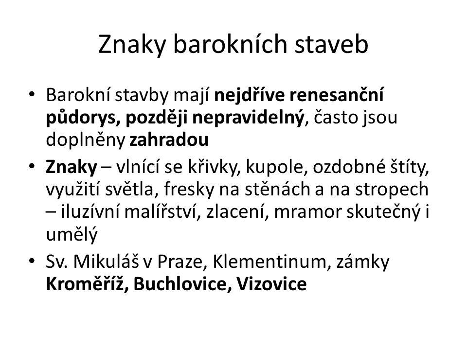 Znaky barokních staveb