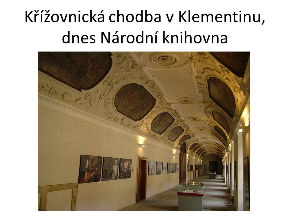 Křížovnická chodba v Klementinu, dnes Národní knihovna