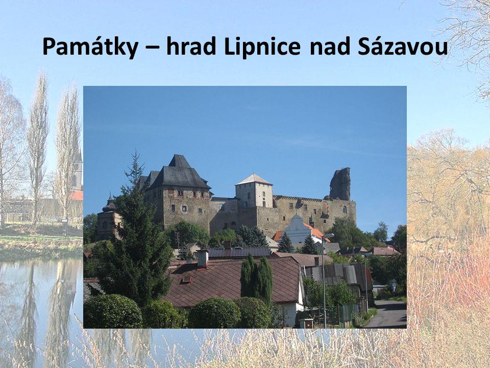 Památky – hrad Lipnice nad Sázavou