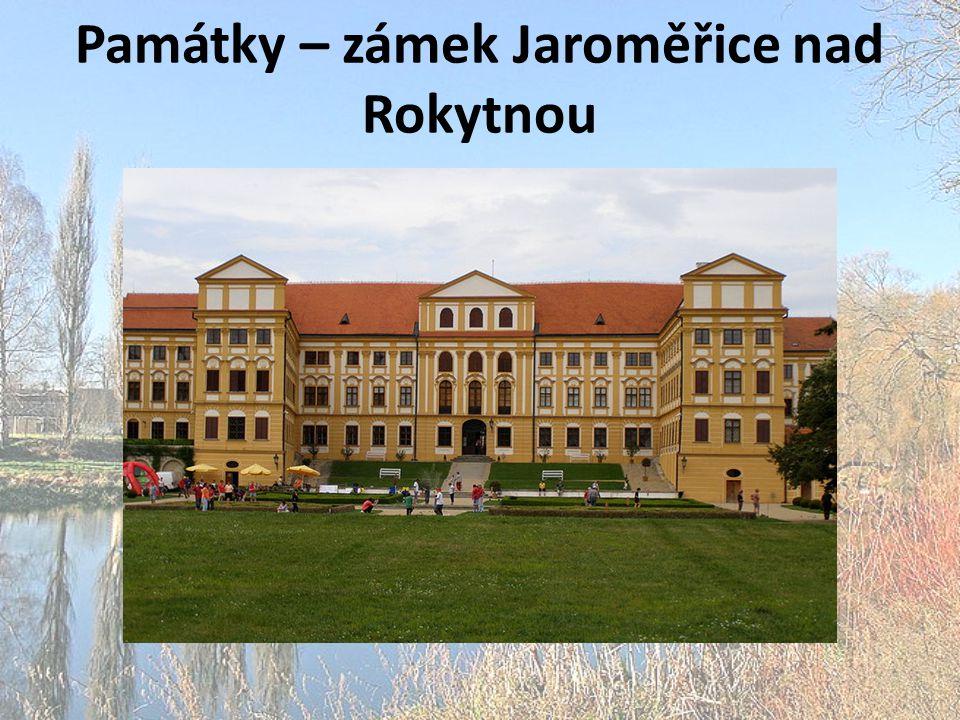 Památky – zámek Jaroměřice nad Rokytnou