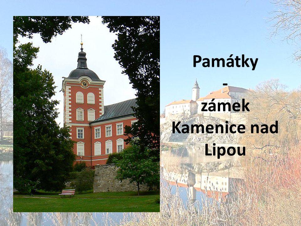 Památky - zámek Kamenice nad Lipou