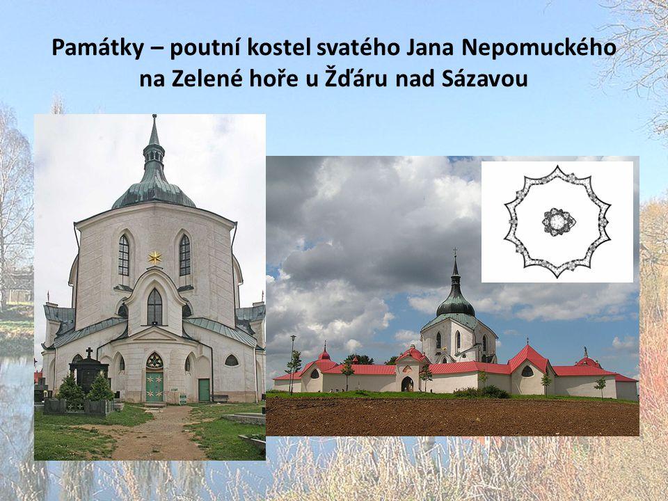 Památky – poutní kostel svatého Jana Nepomuckého na Zelené hoře u Žďáru nad Sázavou
