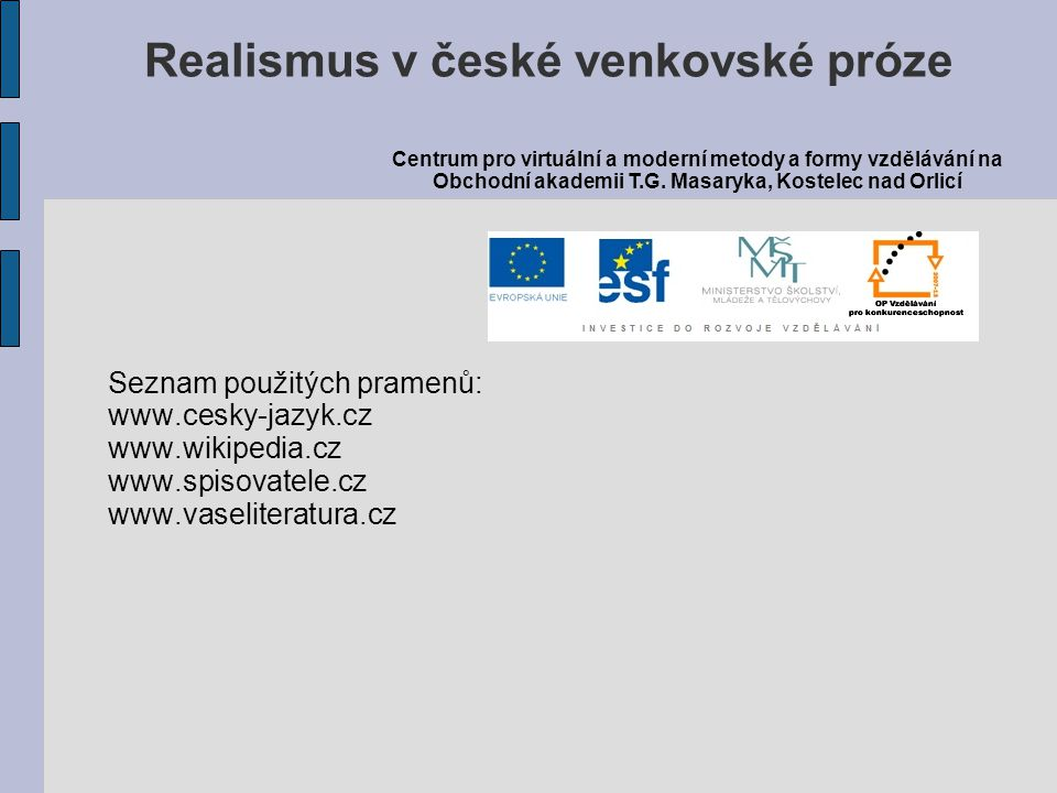 Realismus v české venkovské próze