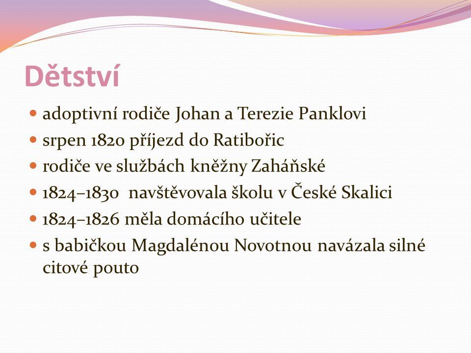 Dětství adoptivní rodiče Johan a Terezie Panklovi