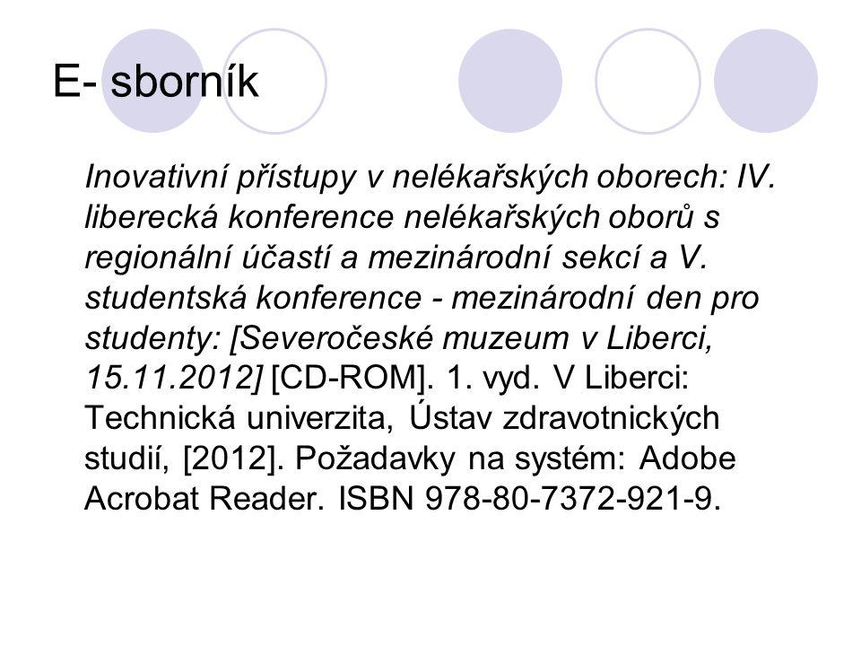 E- sborník