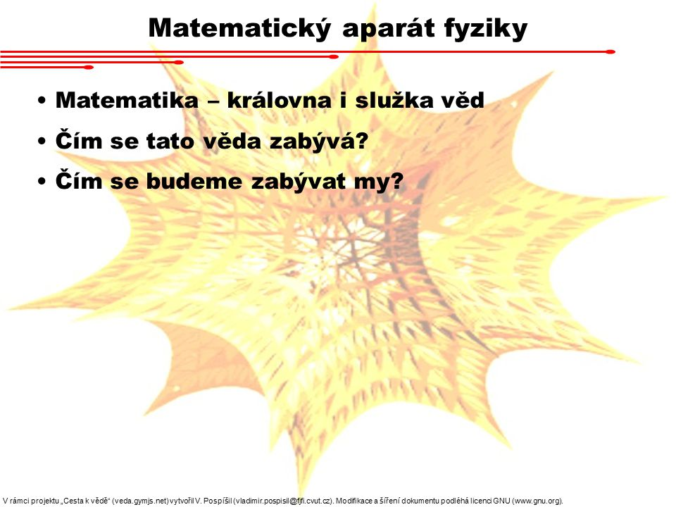 Matematický aparát fyziky