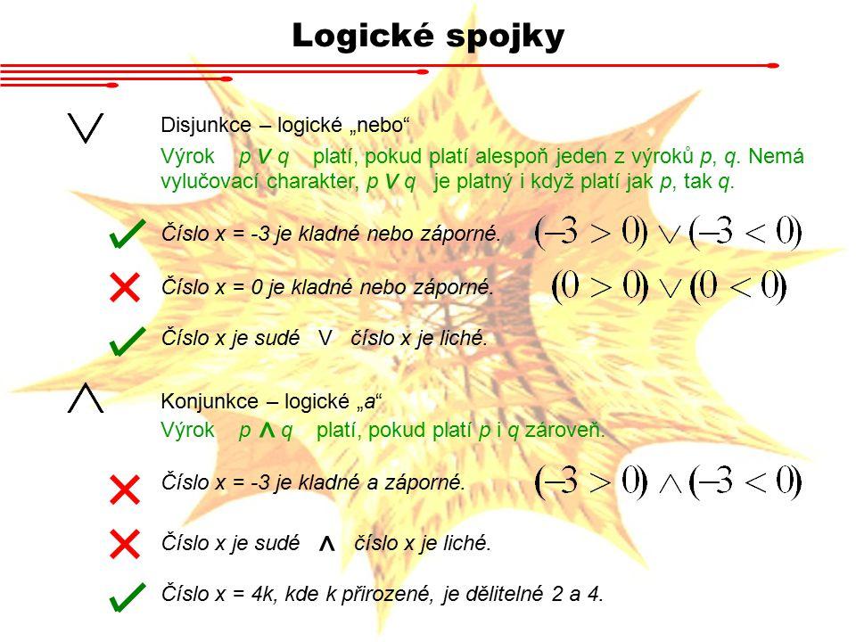 """Logické spojky Disjunkce – logické """"nebo"""