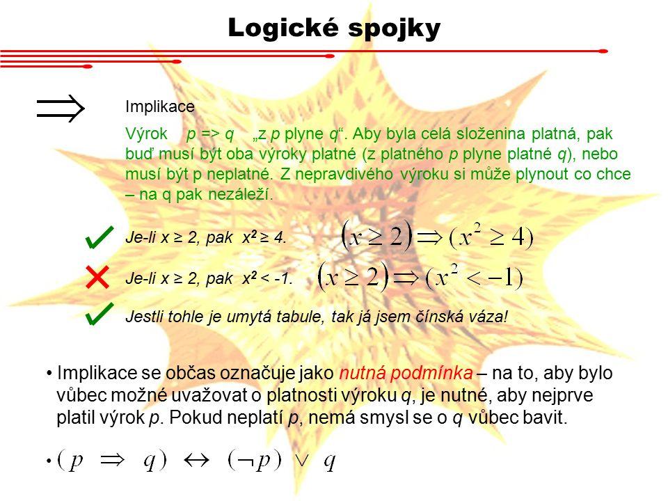 Logické spojky Implikace.