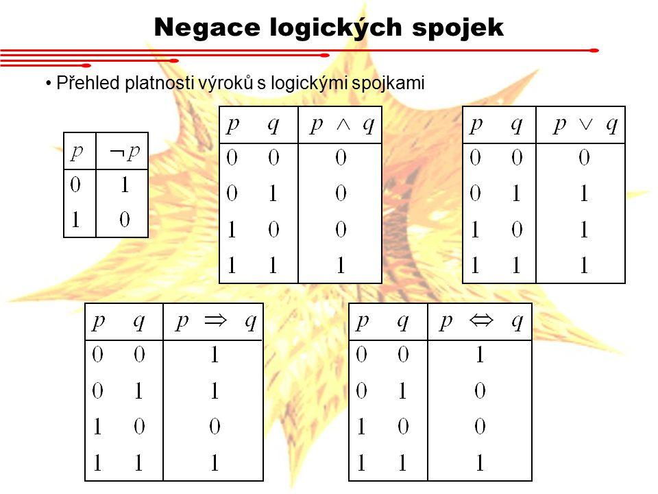 Negace logických spojek