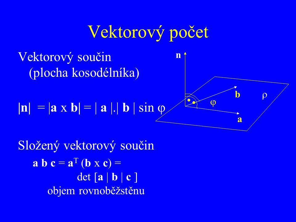 Vektorový počet Vektorový součin (plocha kosodélníka)