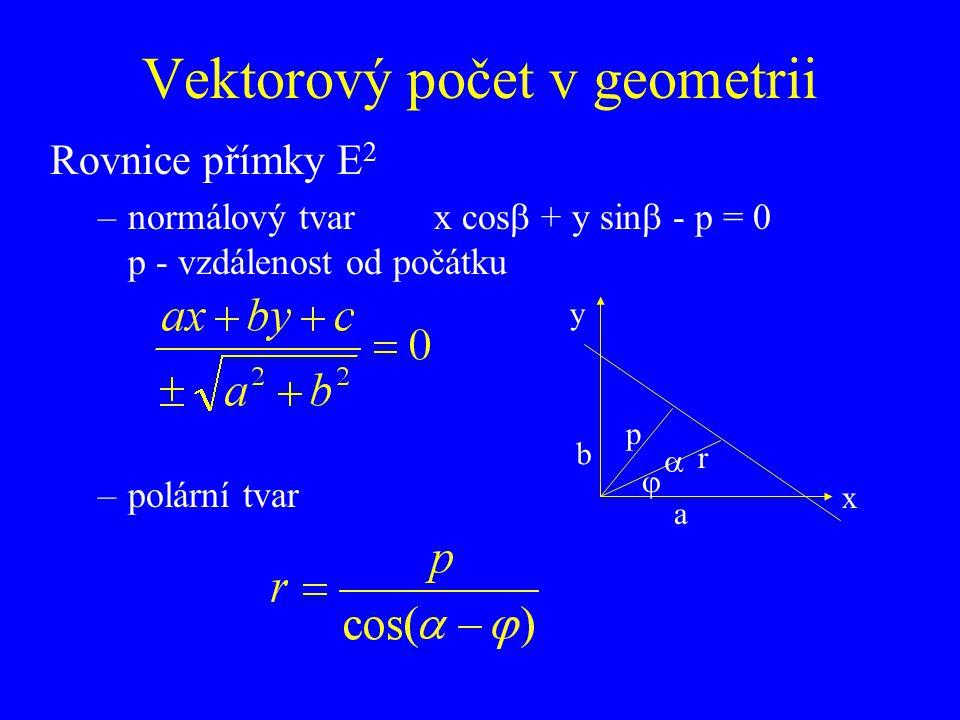 Vektorový počet v geometrii
