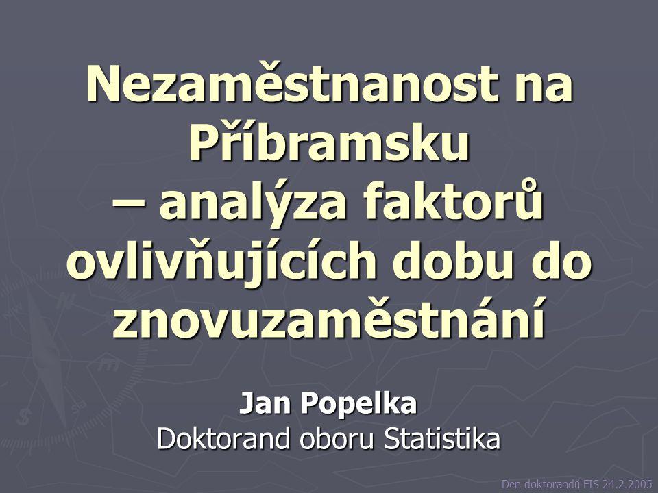Jan Popelka Doktorand oboru Statistika