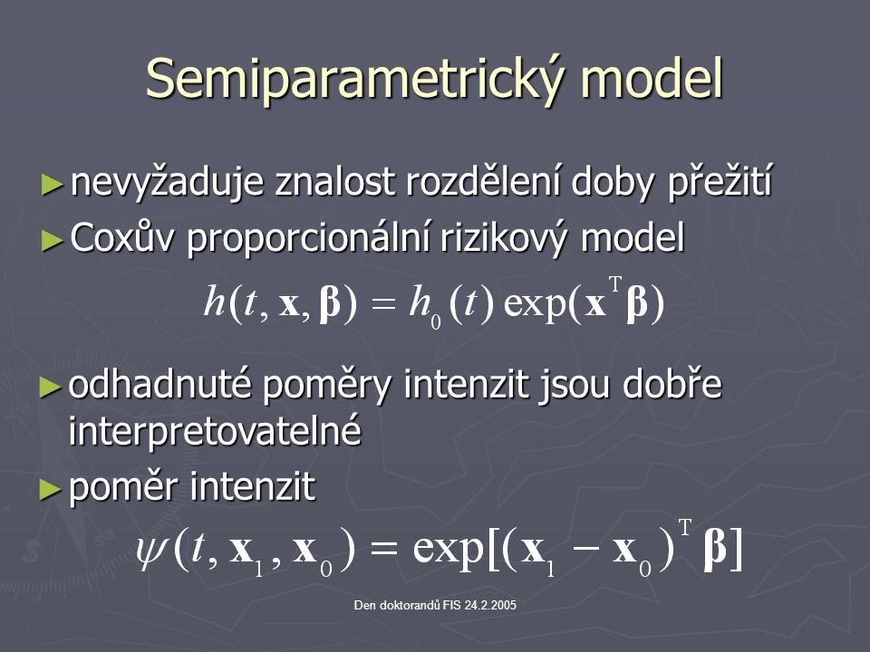 Semiparametrický model