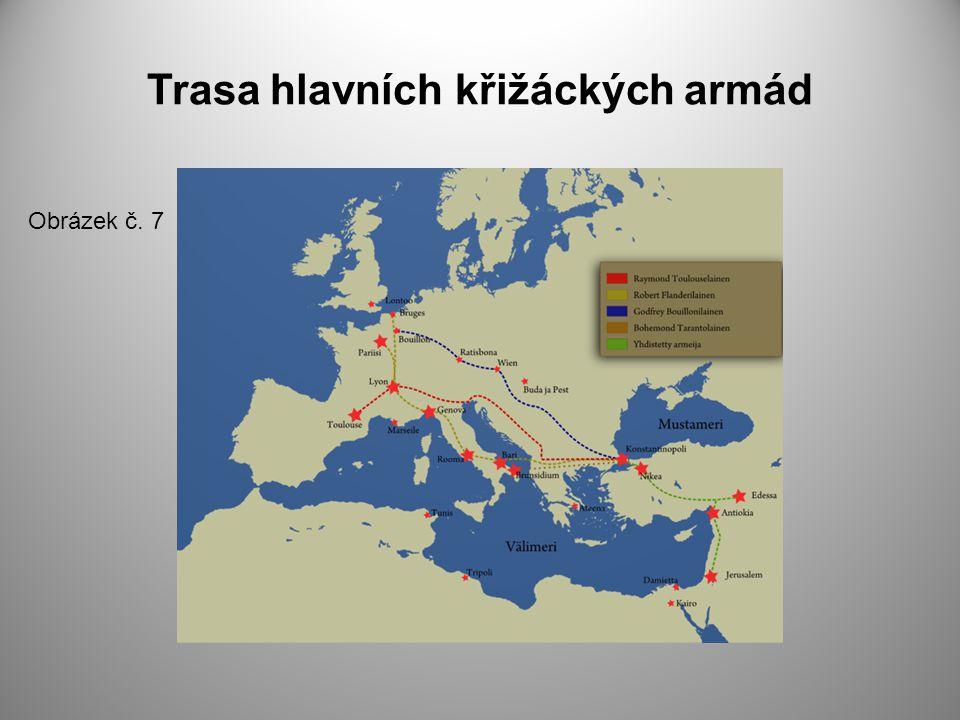 Trasa hlavních křižáckých armád
