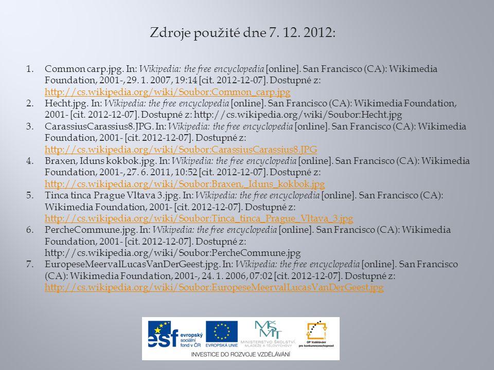 Zdroje použité dne 7. 12. 2012: