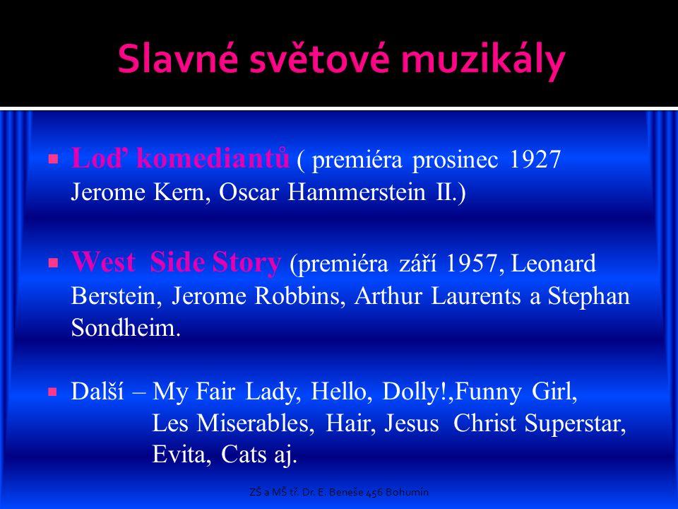 Slavné světové muzikály