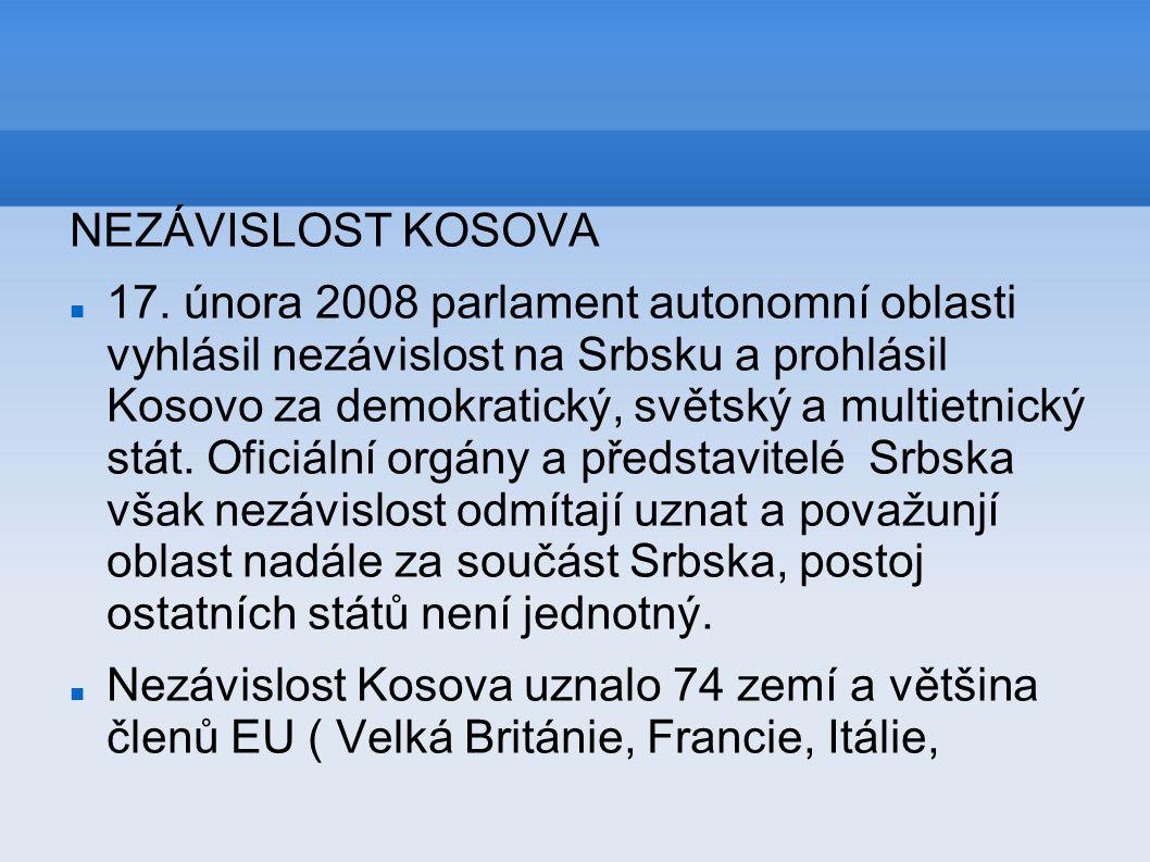 NEZÁVISLOST KOSOVA
