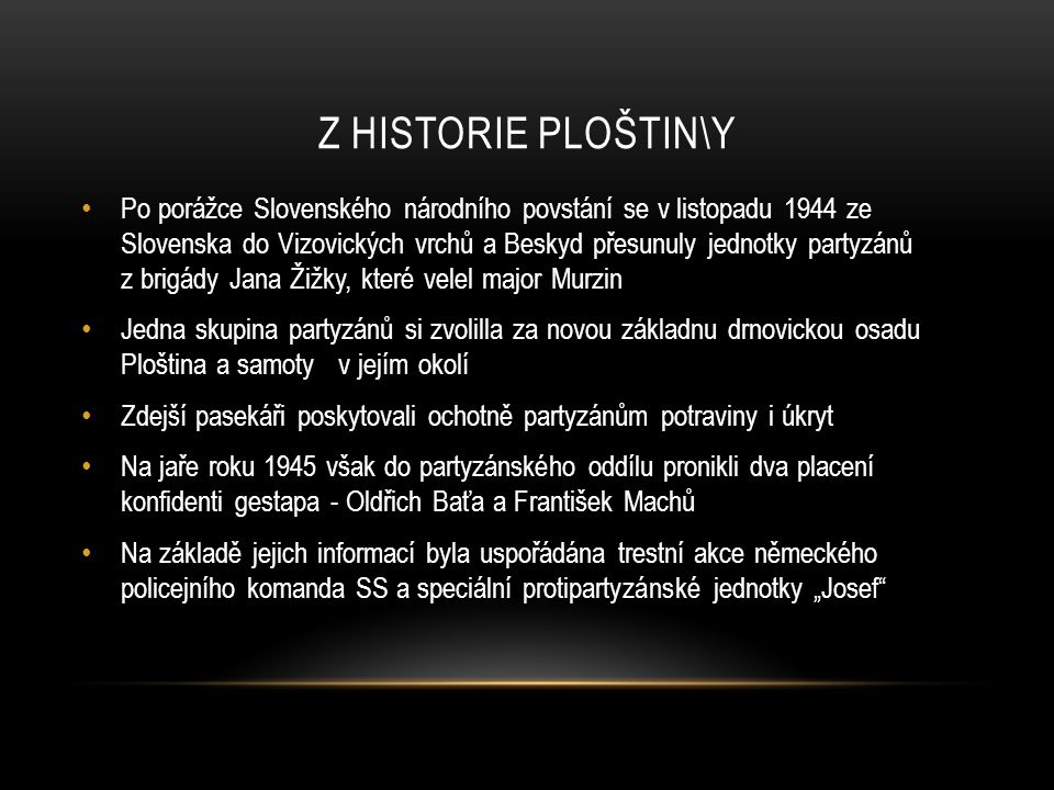 Z historie Ploštin\y