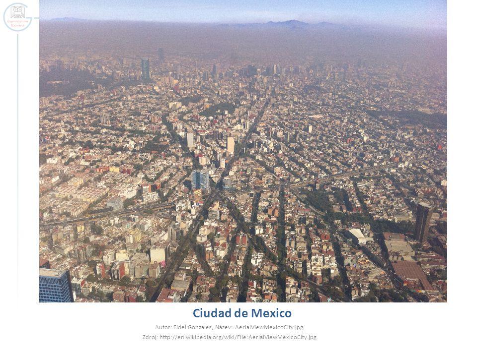 Ciudad de Mexico Autor: Fidel Gonzalez, Název: AerialViewMexicoCity.jpg.